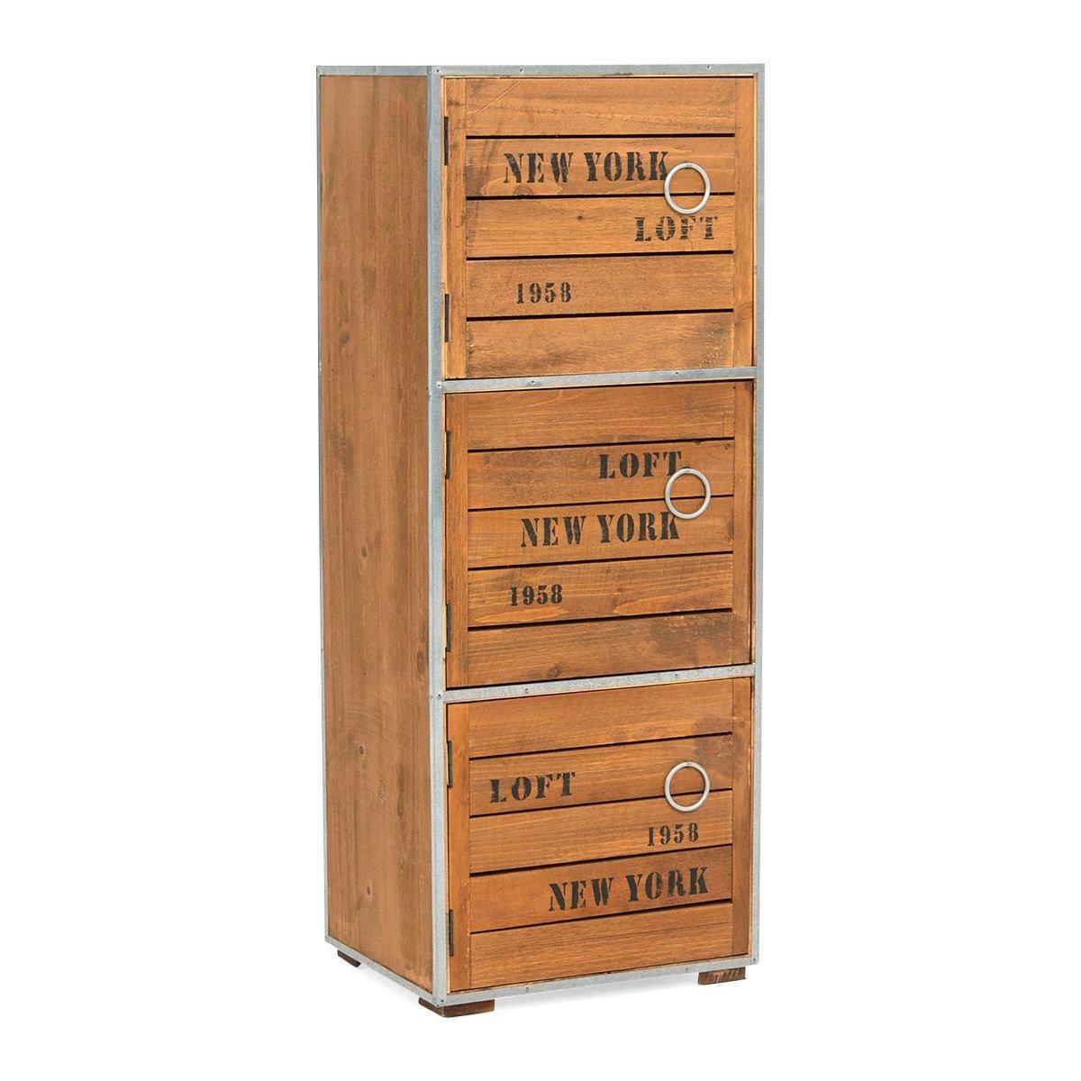 Cupboard Cabinet New York Loft Style Vintage Retro Industrial ...