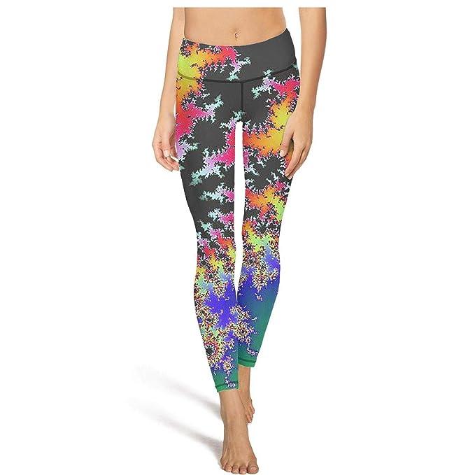 Amazon.com: Pantalones de yoga para mujer con tríptico ...