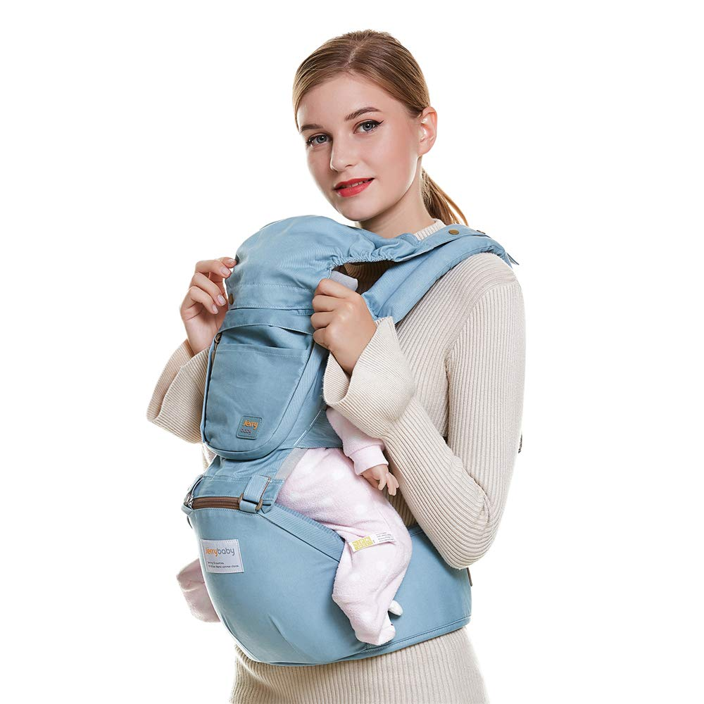 Atmungsaktive Babytrage Abnehmbaren Sitz Mit Methode Der Kinder Taille Hinteren Stuhl Vorne Träger Carrier Vier Jahreszeiten Universal,LightGrün