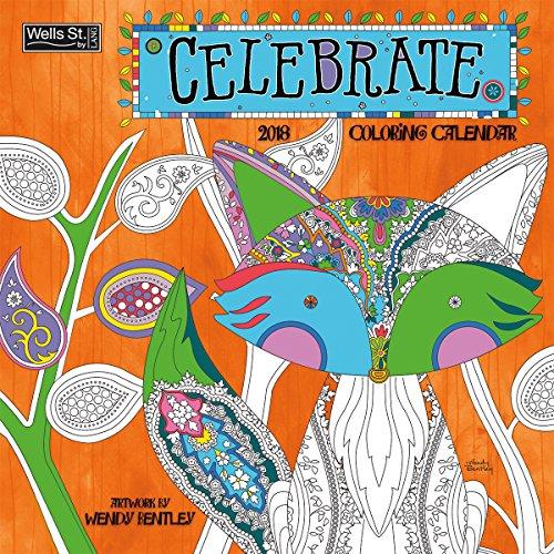 The LANG Companies WSBL Celebrate - Coloring 2018 Coloring 12X12 Wall Calendar Office Wall Calendar (18996092001)