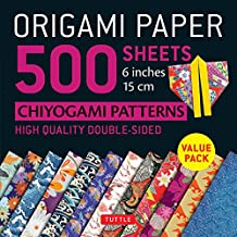 "Origami Paper 500 sheets Chiyogami Patterns 6"" 15cm: Tuttle Origami Paper: High-Quality Origami Sheets Printed with 12 Different Designs: Instructions for 8 Projects Included"