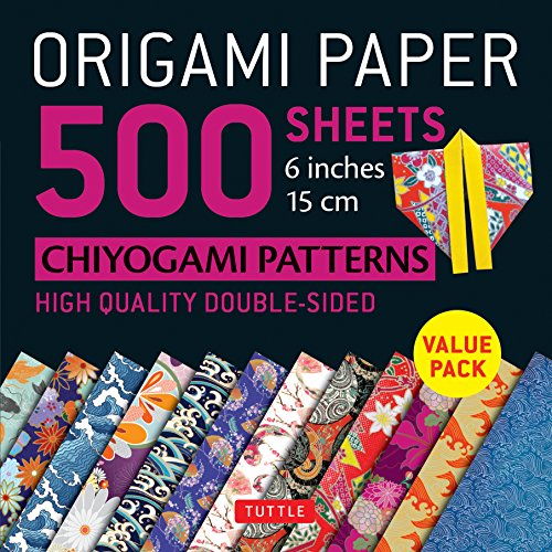 "Origami Paper 500 sheets Chiyogami Patterns 6"" 15cm"