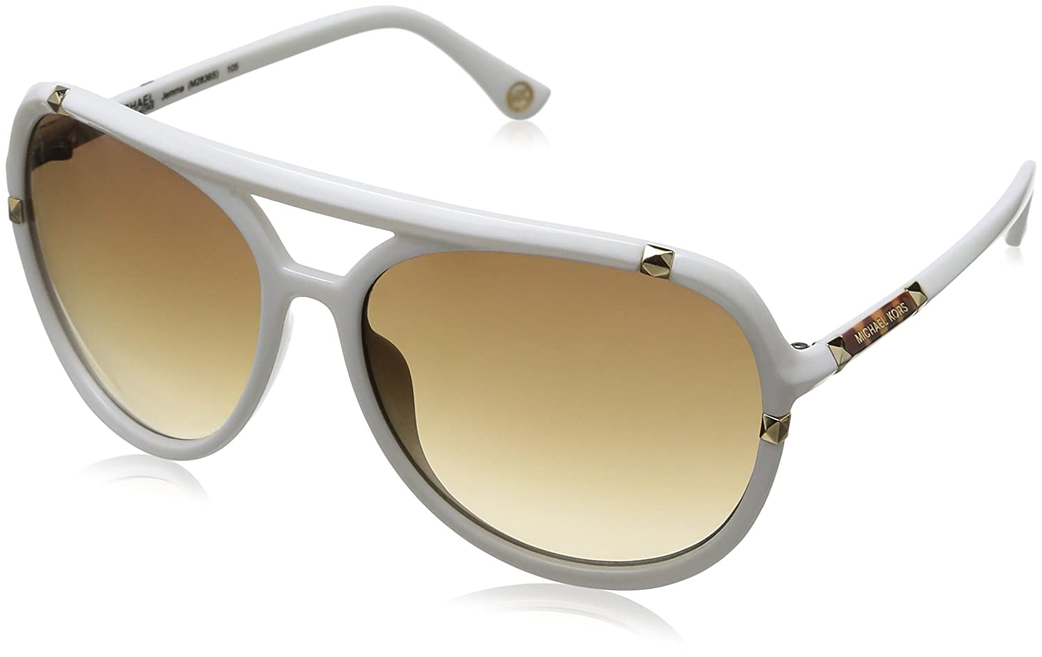 1c23967f7510 Michael Kors Women's M2836S Oversized Sunglasses, White frame / Brown lens  (105): Amazon.co.uk: Clothing