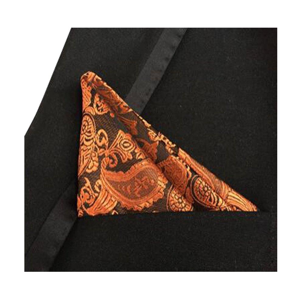 JACCOS/® Mens Fashion 100/% New 3 pc Mixed Color Design Fabric Pocket Squares