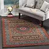 Safavieh Mahal Collection MAH620C Traditional Oriental Navy and Red Area Rug (6'7'' x 9'2'')