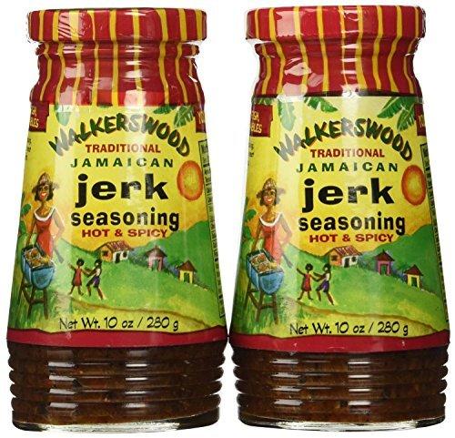 Walkerswood Hot Ka,om' Jerk Seasoning 10oz (Set of 2) by