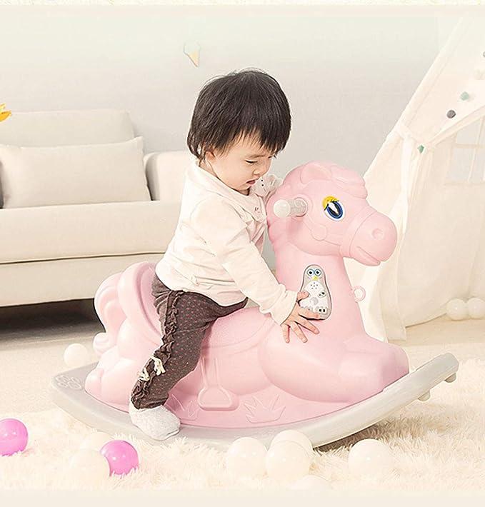 Cheval /à bascule Indoor B/éb/é Trojan Enfant /À Bascule Chaise /À Bascule B/éb/é Anniversaire Cadeau danniversaire De Mode Bascules HUYP Color : Pink