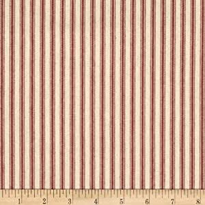 James Thompson & Co., Inc. 44in Ticking Stripe Red Canvas