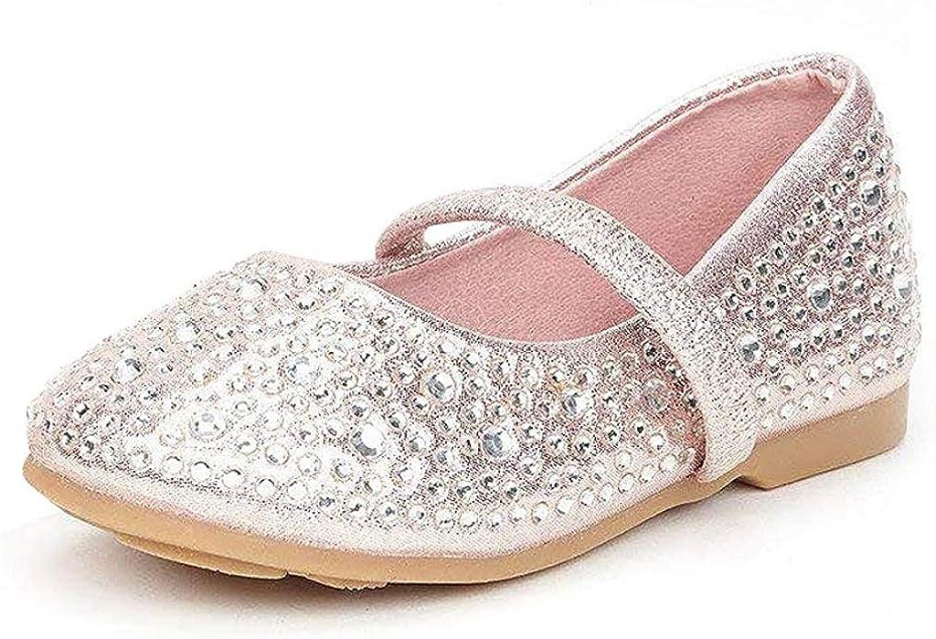 DREAM PAIRS Girl's Mary Jane Casual Slip on Ballerina Flat (Toddler)