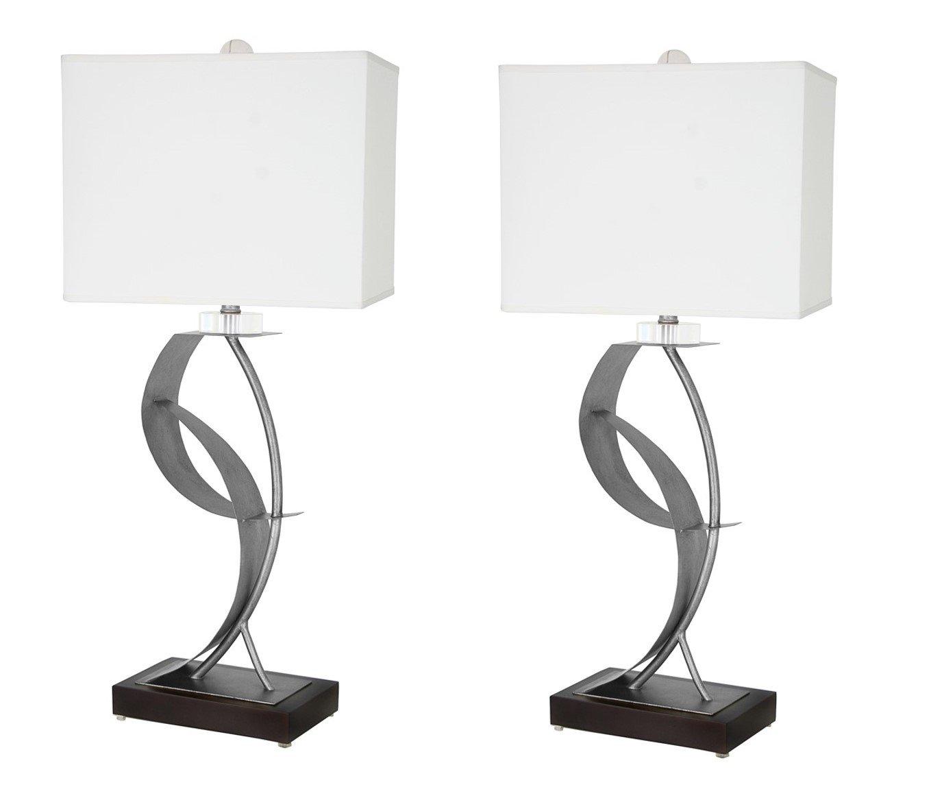 Van Teal 630572PR Lady Clara Set of 2 Lamps, Silver, 2 by Van Teal
