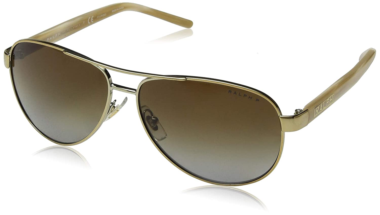 f042557934c Amazon.com  Ralph by Ralph Lauren Women s 0ra4004 Polarized Aviator  Sunglasses