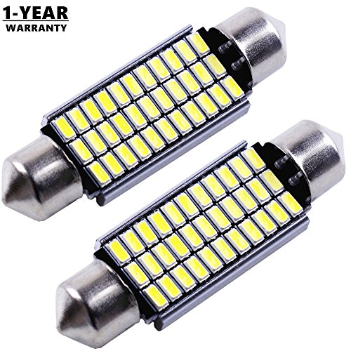 Cargo LED Super Bright 42MM 33-EX 3014 Chipsets 569 578 211-2 212-2 LED Light Replacement Bulbs for Rv Map Dome Mirror Door Light 6000K Xenon White 12-24v(Pack of 2)_ (212 Replacement)