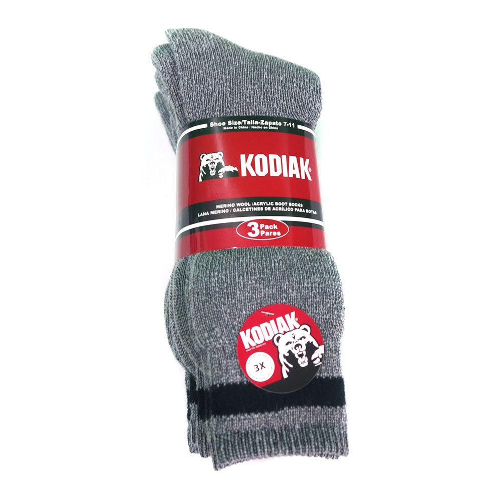 Kodiak Mens Wool Socks, Grey at Amazon Mens Clothing store: Casual Socks