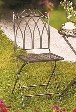 Stuhl Klappstuhl Gartenstuhl *Verona* Metall Anthrazit   H91cm