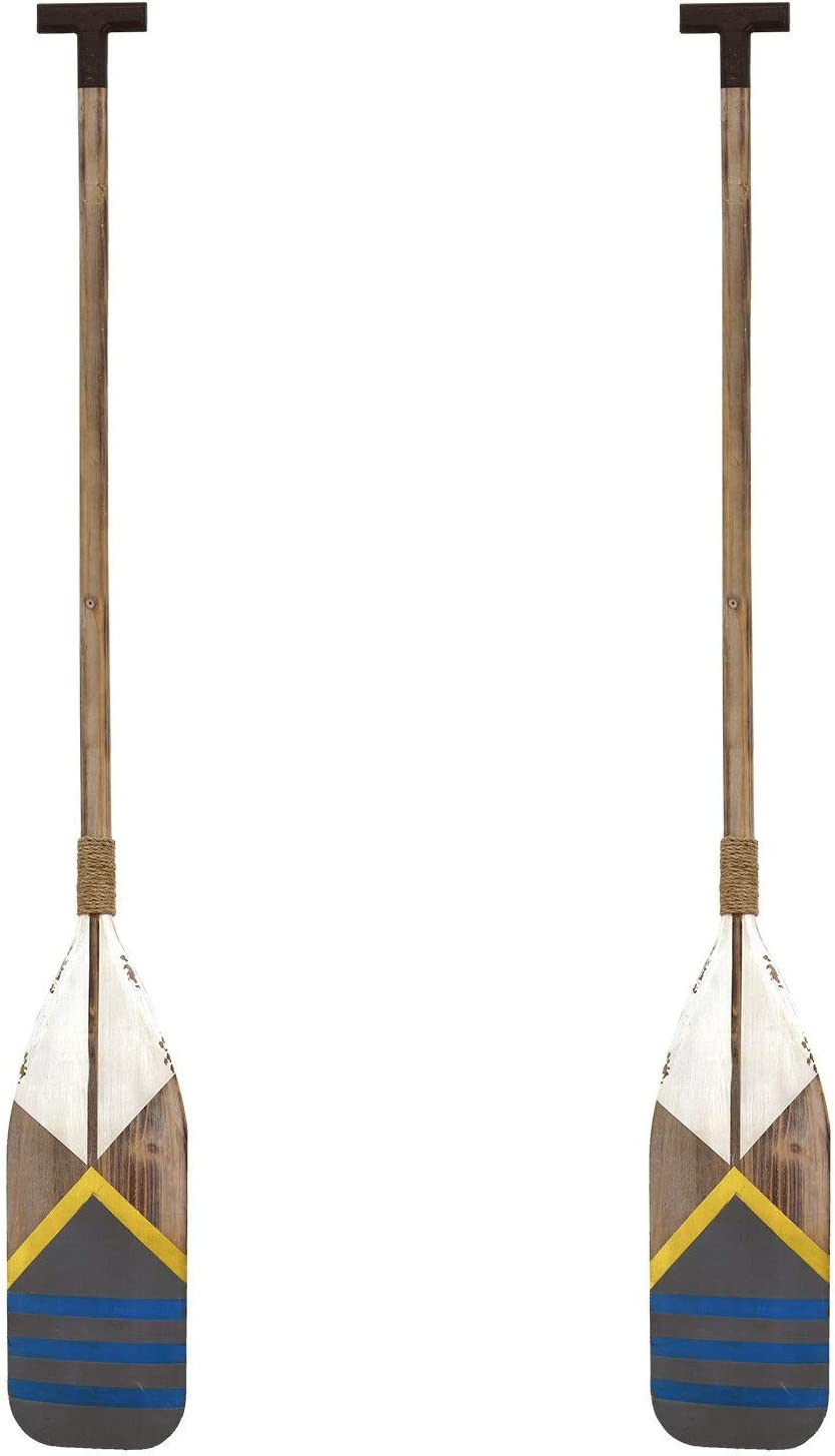 Stratton Home Decor Nautical Oar 60x8 Inch Wooden Wall Art Room Decoration for Bedroom, Bathroom, Living Room, or Kitchen (2 Pack)