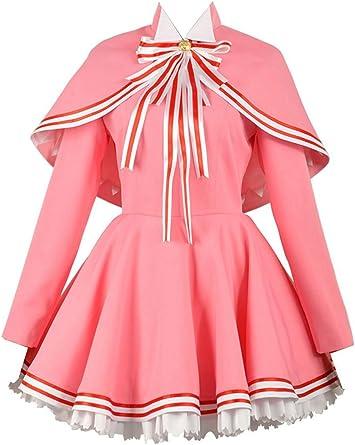 Card Captor SAKURA cosplay costume clear card dress Halloween uniform ball suit