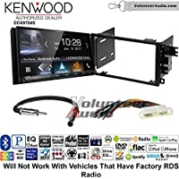 Volunteer Audio Kenwood DDX9704S Double Din Radio Install Kit with Apple Carplay Android Auto Fits 2000-2005 Buick LeSabre, 2000-2005 Pontiac Bonneville (Without Bose)
