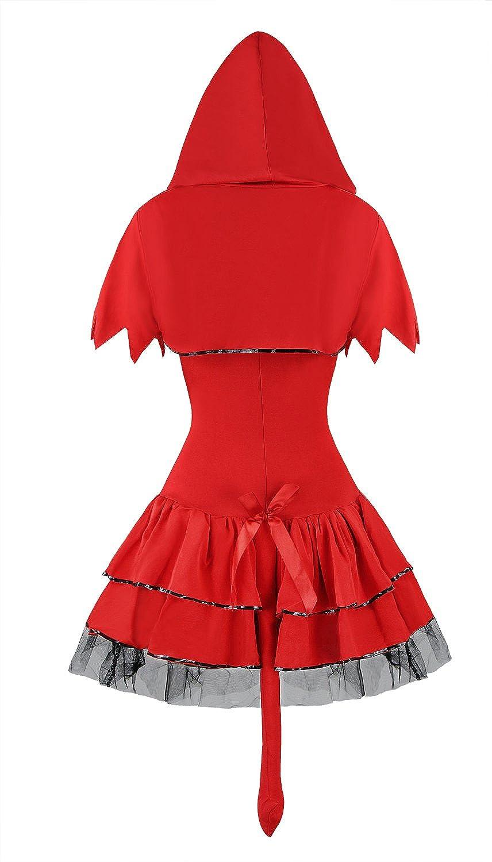 ce3aede67f7 Amazon.com: Sibeawen Women's Sexy Devil Body Shaper Halloweens Costumes:  Clothing