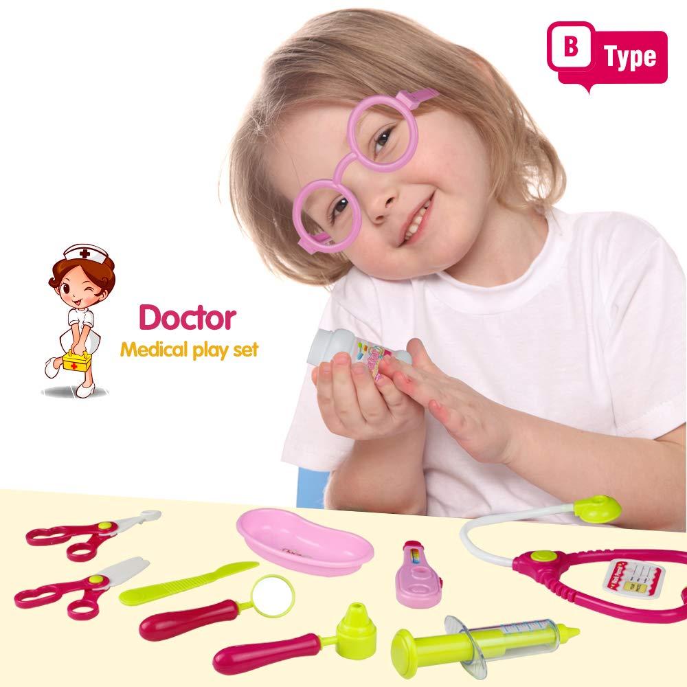 Valigetta del Dottore Kit Medico Gioco imitazione Regalo di Compleanno e Natale per Ragazzi e Ragazze 3+