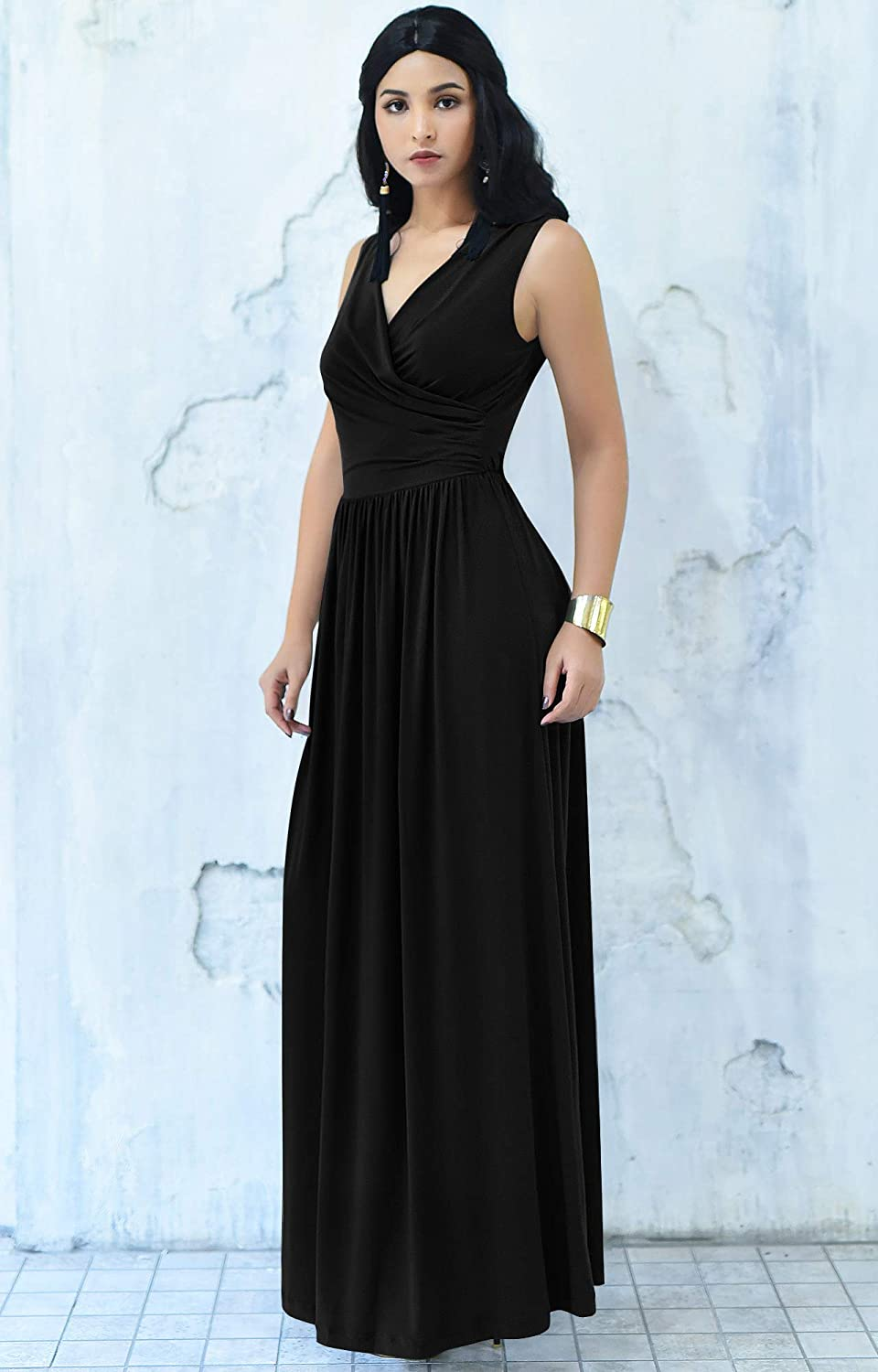 KOH KOH Wrap Designer Sleeveless Evening Party Prom Gown at Amazon Women s  Clothing store  6ea1f3315