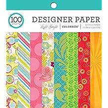 "ColorBok Designer Paper Pad, Light Bright, 6"" x 6"""