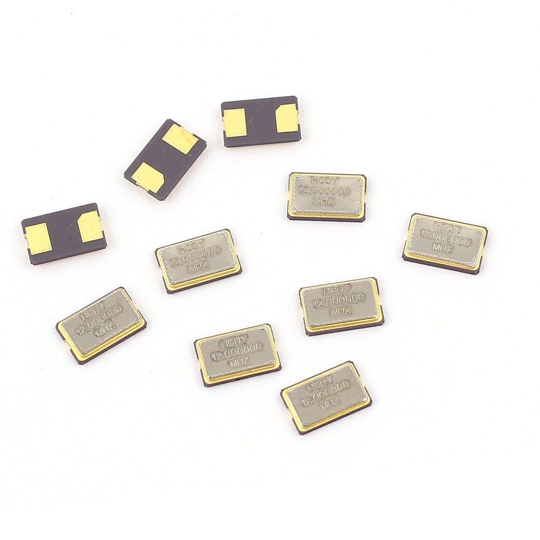 Aexit 10Pcs 12MHz Passive Components 12.000Hz SMD Passive Crystal Quartz Crystals Oscillator 5032