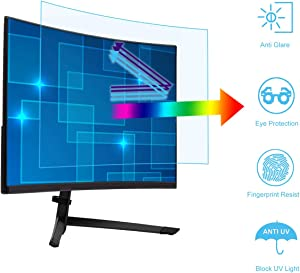 Anti Blue Light and Anti Glare Screen Protector for 25 Inch 16:9 Widescreen Desktop Monitor. Filter Out Blue Light and Relieve Eye Strain to Help You Sleep Better