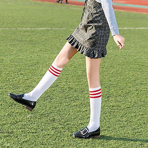 レディース スポーツソックス 靴下 レディース 女子 3本ライン 美脚 2足セット ハイソックス  綿 無地  靴下