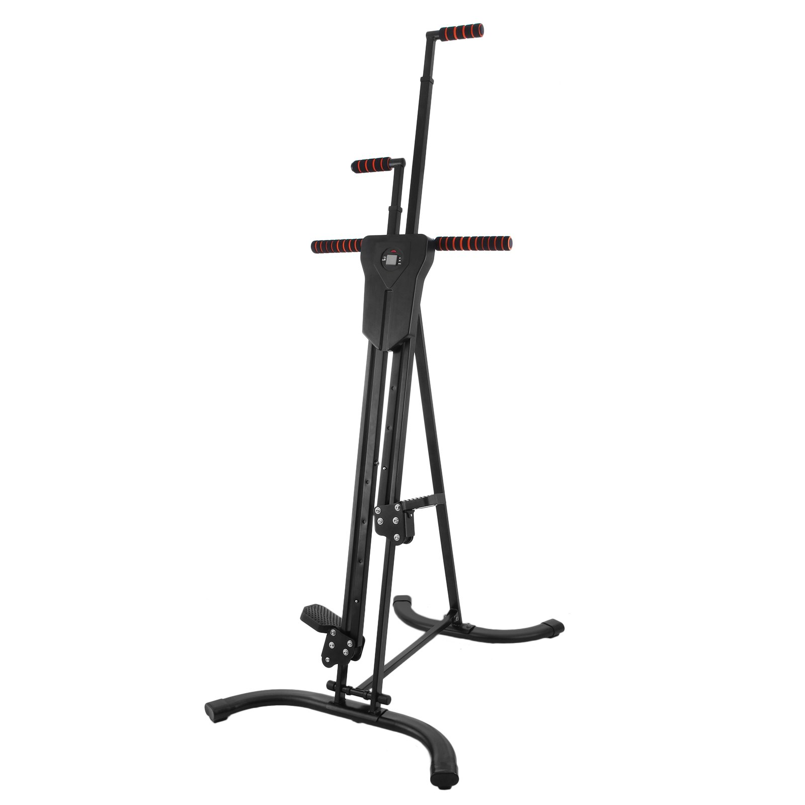 Happy Exercise Climber Stepper Cardio Climber Machine LCD Climbing System Vertical Climber Fitness Workout (Iron Board)