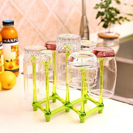 Taza plata titulares,Copa creativo botella drenaje multi - propósito hogar tienda taza vidrio estante