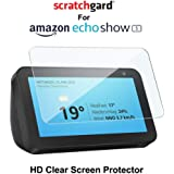"Scratchgard Anti-Bubble & Anti-Fingerprint High Definition (HD) Clear (0.1mm) PET Film Scratch Protection Screen Protector Screen Guard for Amazon Echo Show 5.5"" Inch"