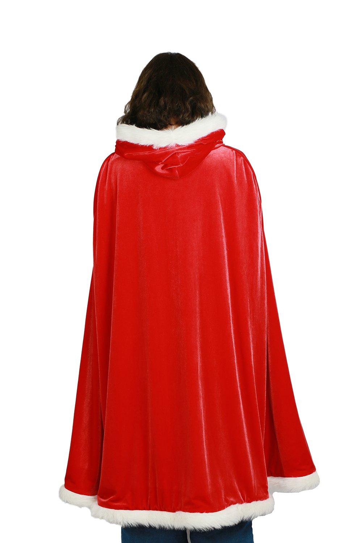 Mesky Christmas Umhang Party und und Party Cosplay Kostüm für Damen und Herren Tolles Geschenk rot. 29fbd1