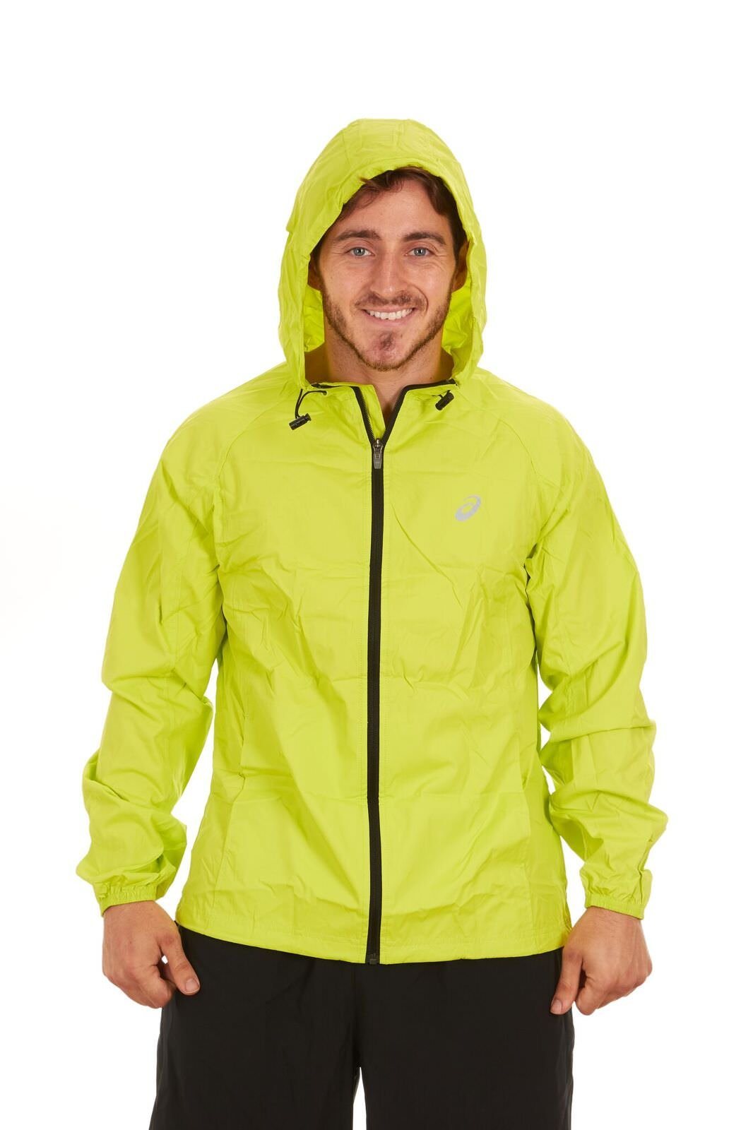 ASICS Mens Packable Jacket (Lime, XX-Large)