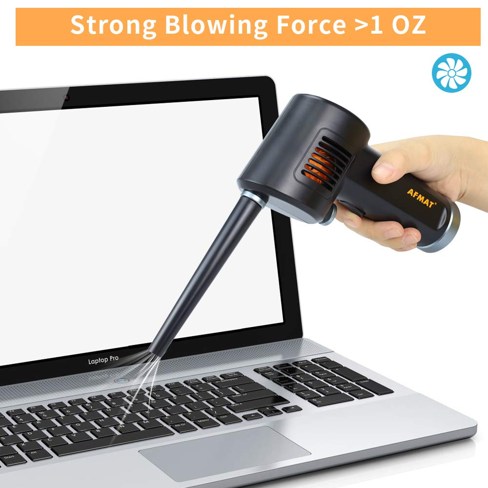 Can of Air Alternative to Compressed Gas Powerful 33000 RPM Cordless Air Duster Clean Duster for Computer Keyboard Cleaning 10W Fast Charging Rechargeable 6000mAh Battery with Cleaning Cloth