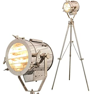 Nautical steel searchlight studio floor lamp tripod chromesilver beautiful floor lamp vintage model theme spotlight aloadofball Images