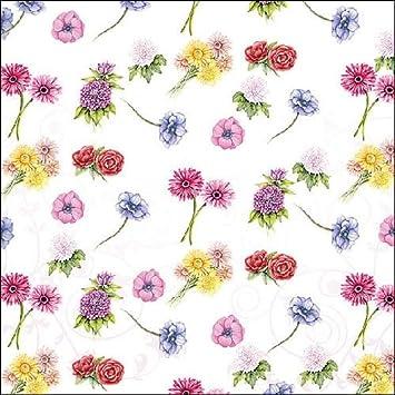 3-ply 4 Individual Napkins for Craft /& Napkin Art. 33 x 33cm Bosschaert Floral 4 Paper Napkins for Decoupage