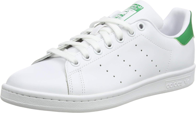 Adidas Stan Smith, Zapatillas de Deporte Unisex Adulto, Blanco (Running White Footwear/Running White/Fairway), 39 1/3 EU