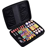 COMECASE Hard Battery Organizer Storage Box Carrying Case Bag - Holds 148 Batteries AA AAA C D 9V - Come with D-FantiX Digital Battery Tester BT-168D