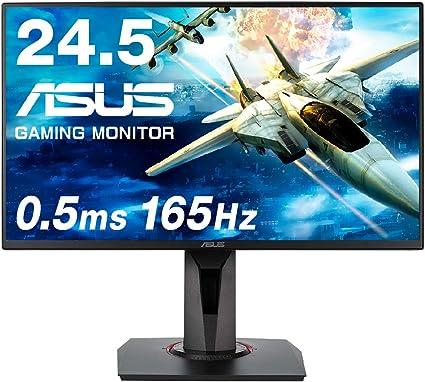 【Amazon.co.jp限定】ASUSゲーミングモニター 24.5インチ VG258QR-J 0.5ms 165Hz スリムベゼル G-SYNC Compatible FreeSync HDMI DP 高さ調整 縦横回転 3年保証