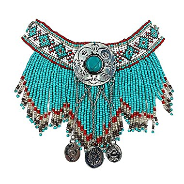 Vintage Look Native Indian Beaded Turquoise Necklace