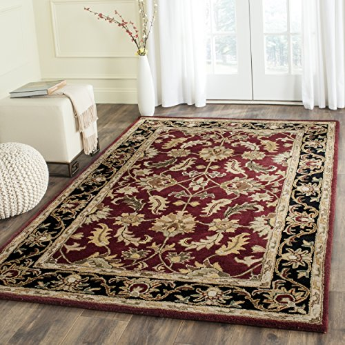 Safavieh Heritage Collection HG628C Handmade Traditional Oriental Red and Black Wool Area Rug (11′ x 15′)