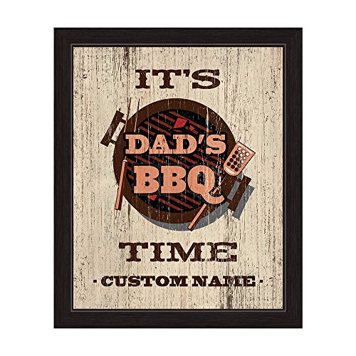 Its Dads BBQ Time Customizable - fathers day wall art
