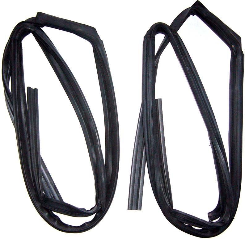 Motorstorex Weatherstrip Glass Run Channel Front Door Left /& Right for Nissan Datsun B13 Sentra Coupe 2 Door