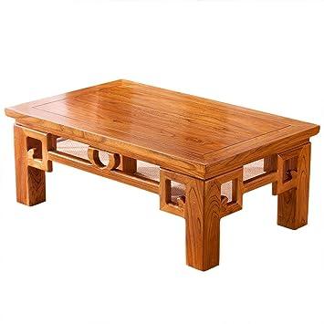 Amazon De Couchtisch Ulme Tatami Couchtisch Erker Tisch Massivholz
