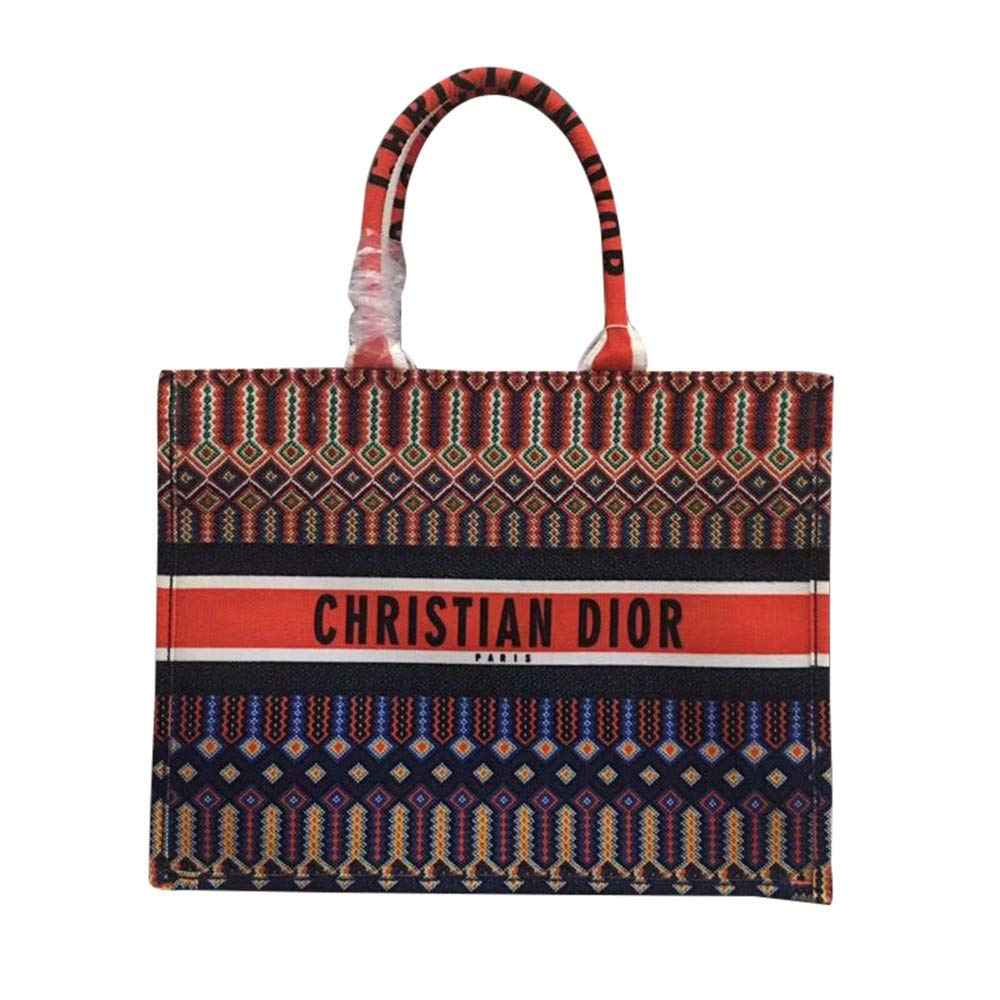 d72f48f0 Womens shopping bags dior book tote bag in canvas embroidered 2