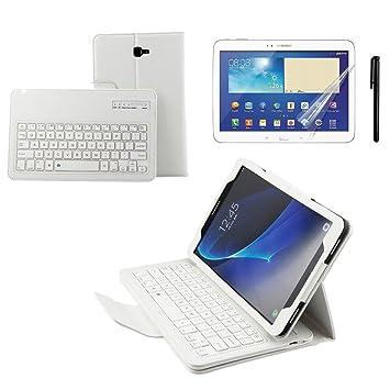 Kvago - Funda protectora con teclado inalámbrico extraíble para Samsung Galaxy Tab