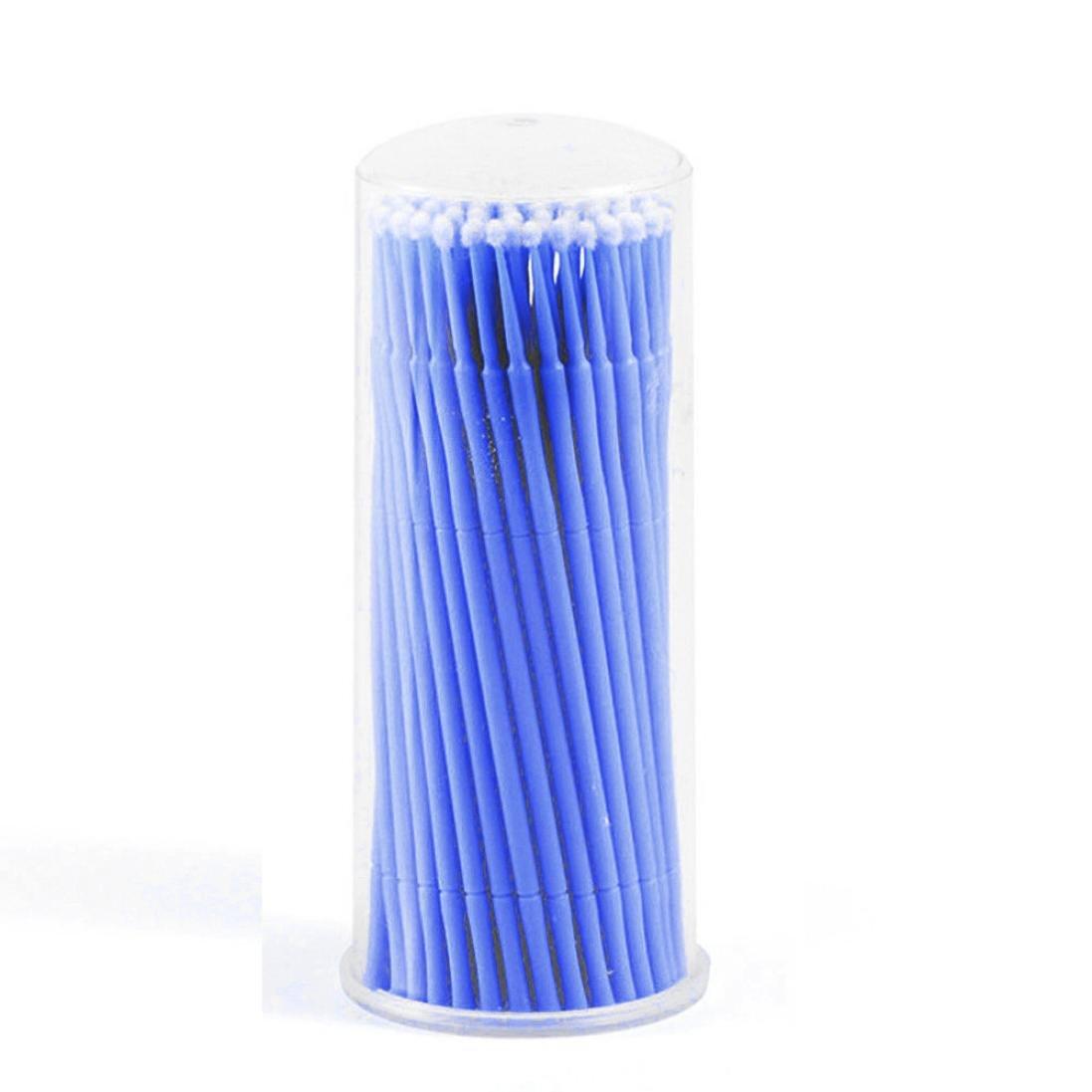 DZT1968 100Pc/Bottle Microblading Micro Brushes Swab Lint Free Tattoo Permanent Supplies (Purple)