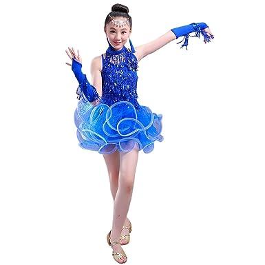 XFentech Niños Vestido de Baile Trajes de Baile Latino niñas ...