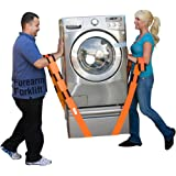Forearm Forklift Lifting and Moving Straps for Furniture, Appliances, Mattresses or Heavy Objects up to 800 Pounds 2-Person, Orange, Model L74995CN,