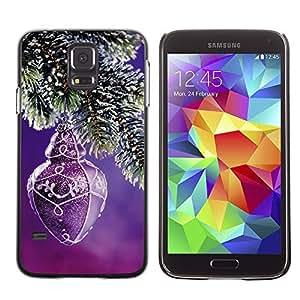YOYO Slim PC / Aluminium Case Cover Armor Shell Portection //Christmas Holiday Purple Decoration 1234 //Samsung Galaxy S5